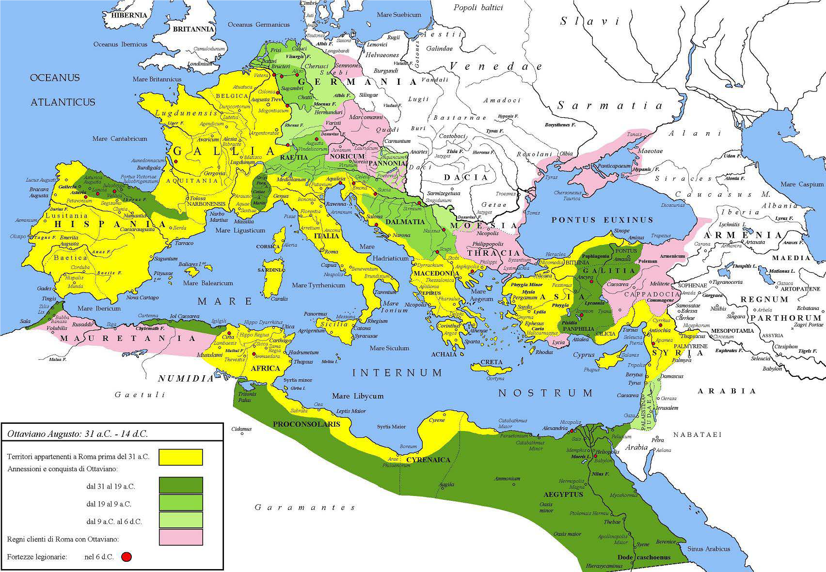 1st Century World Map.The Roman World Monarchy Republic Empire And Collapse