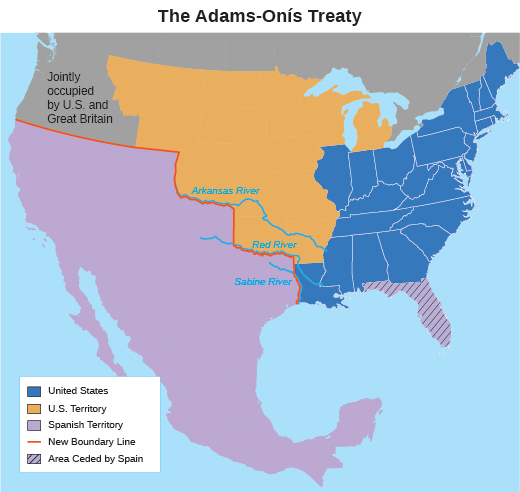 The First Period Of Us Westward Expansion 1800 1860 - Map-of-us-during-westward-expansion