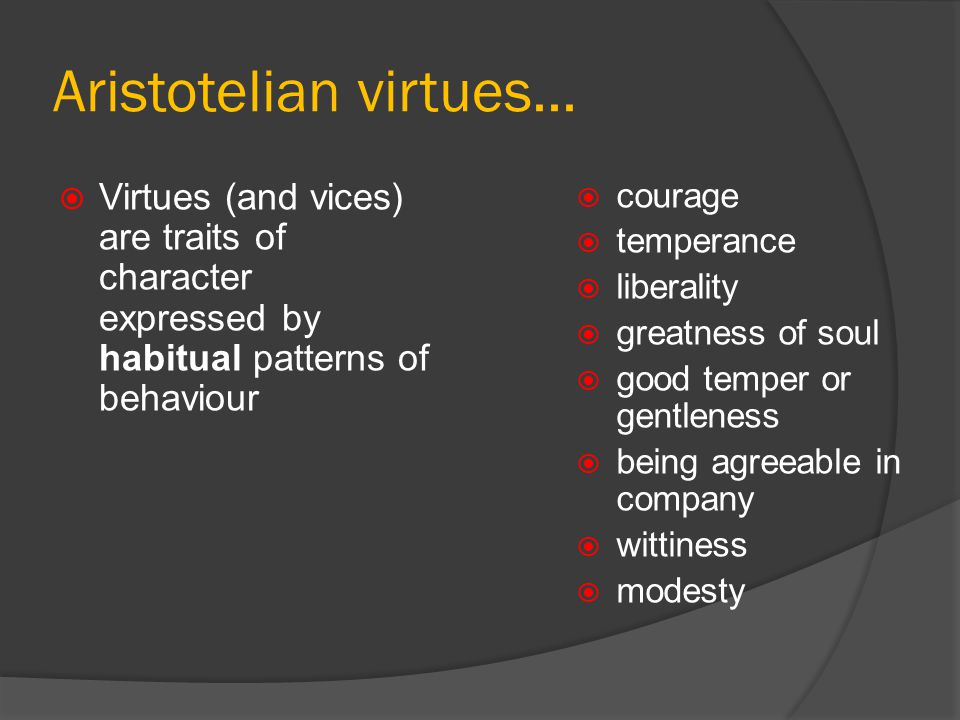 aristotle virtue ethics summary