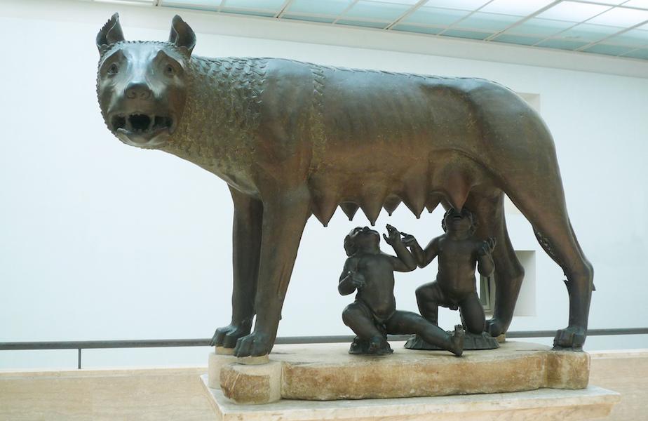 cm 19h Made in ITALY Statua della Lupa Capitolina