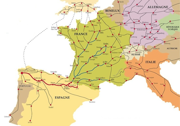 Medieval Map Of France.Medieval Pilgrimage Routes And The Cult Of The Relic
