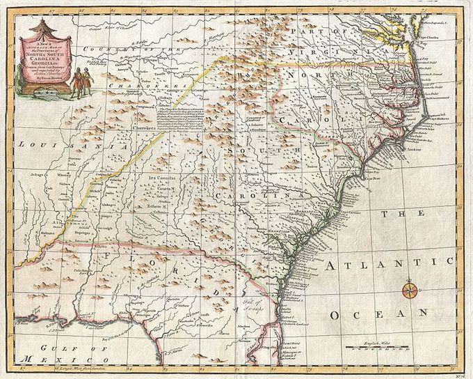 Map Of Virginia 1750.The British Empire In The North American Colonies 1600 1750