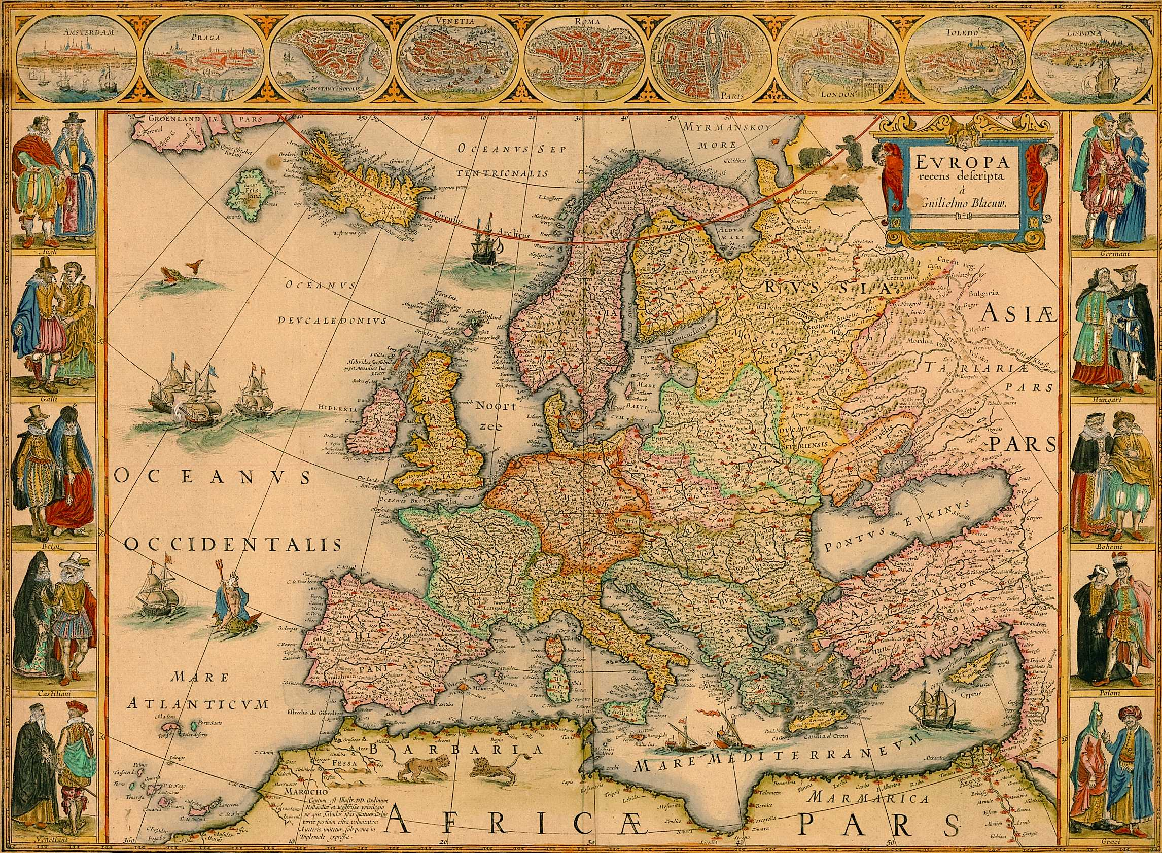 14th Century Map Of Europe.Regions Of Europe And Historical Patterns