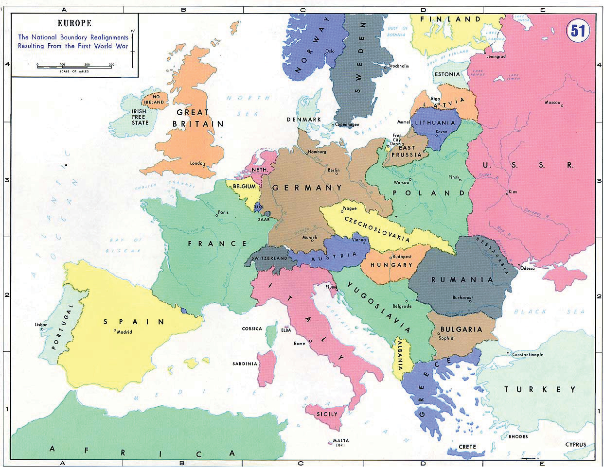 1920s Europe Map.The Late Progressive Era And World War 1912 1920