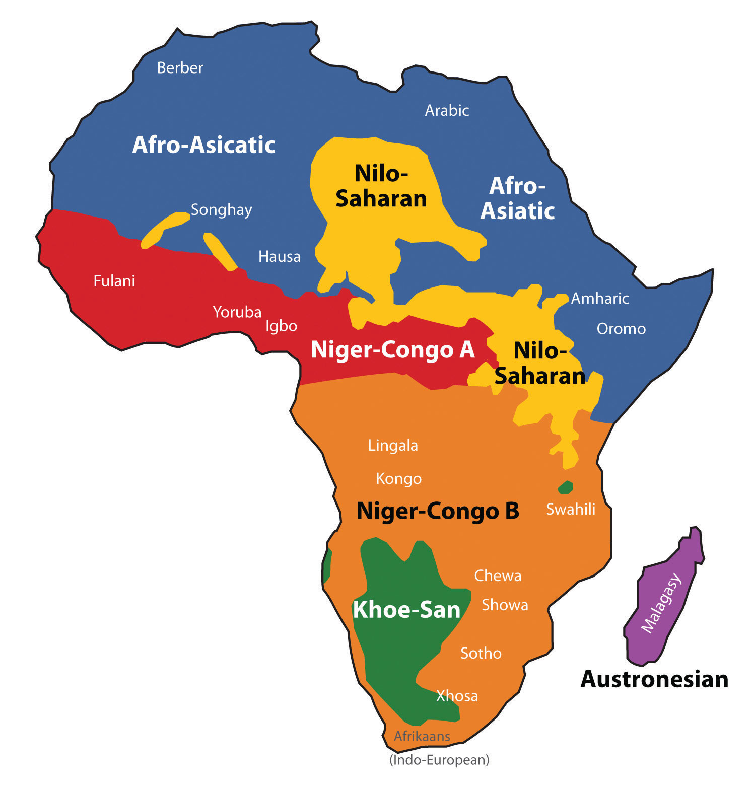 Africa Map Geography.A Geographical Analysis Of Sub Saharan Africa