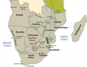 Sub Saharan Africa Map Kalahari Desert.A Geographical Analysis Of Sub Saharan Africa