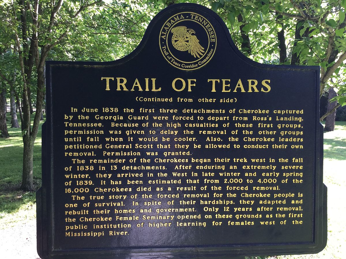 a trail of 4,000 tears