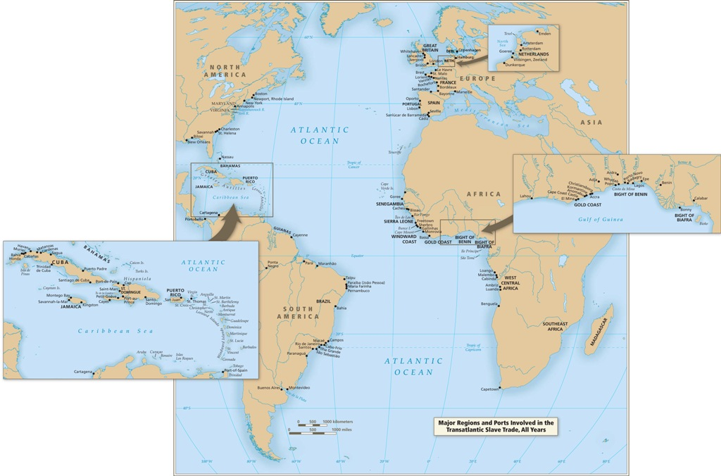 Map Of Africa During Slave Trade.An Overview Of The Trans Atlantic Slave Trade