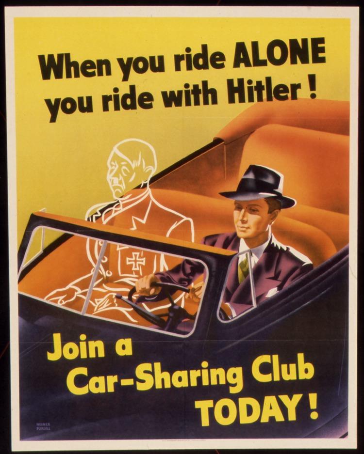 World War II Carpooling Propaganda