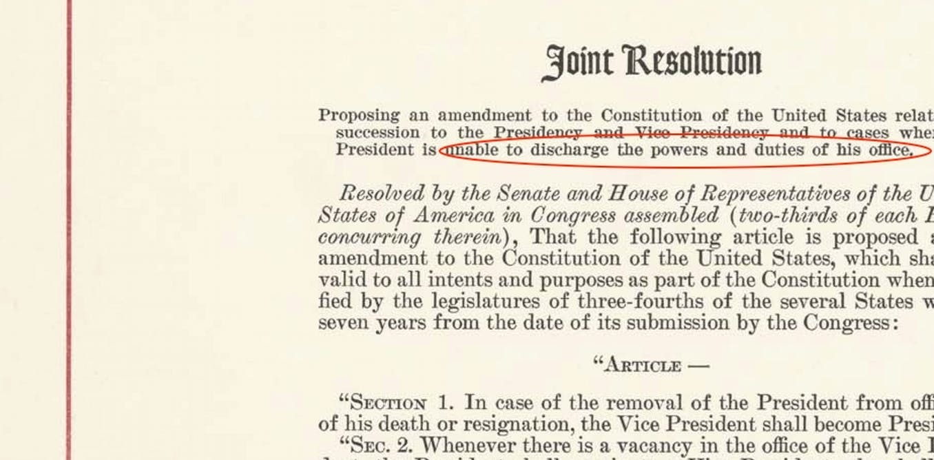 What The 25th Amendment Says About Presidents Who Are Unable To Serve Brewminate
