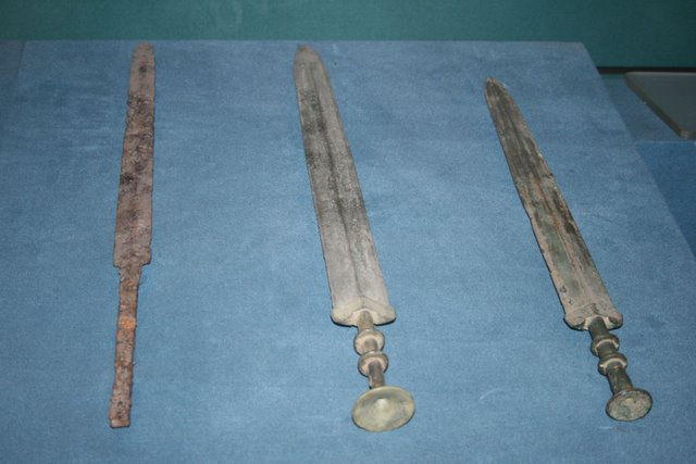 from china antique different bronze Long arrowhead weapon mold ancient