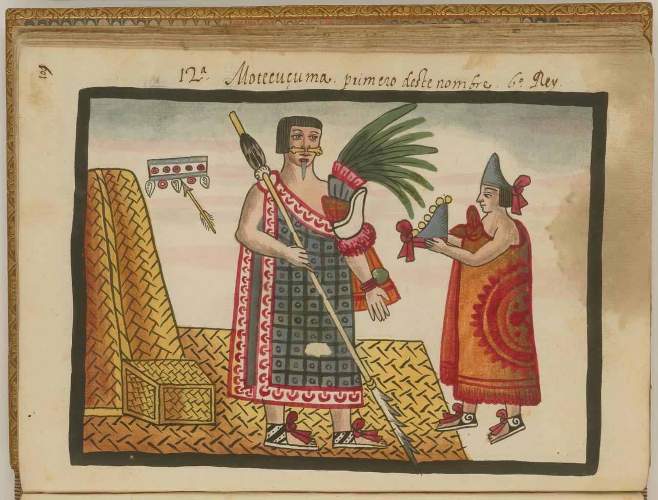 Moctezuma I Second Aztec Emperor Fifth King Of Tenochtitlan