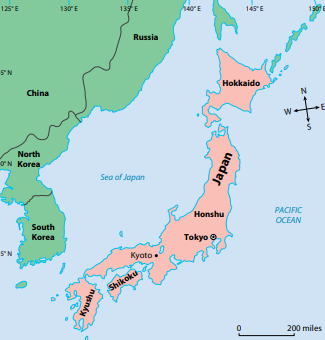 Image result for ancient japan map