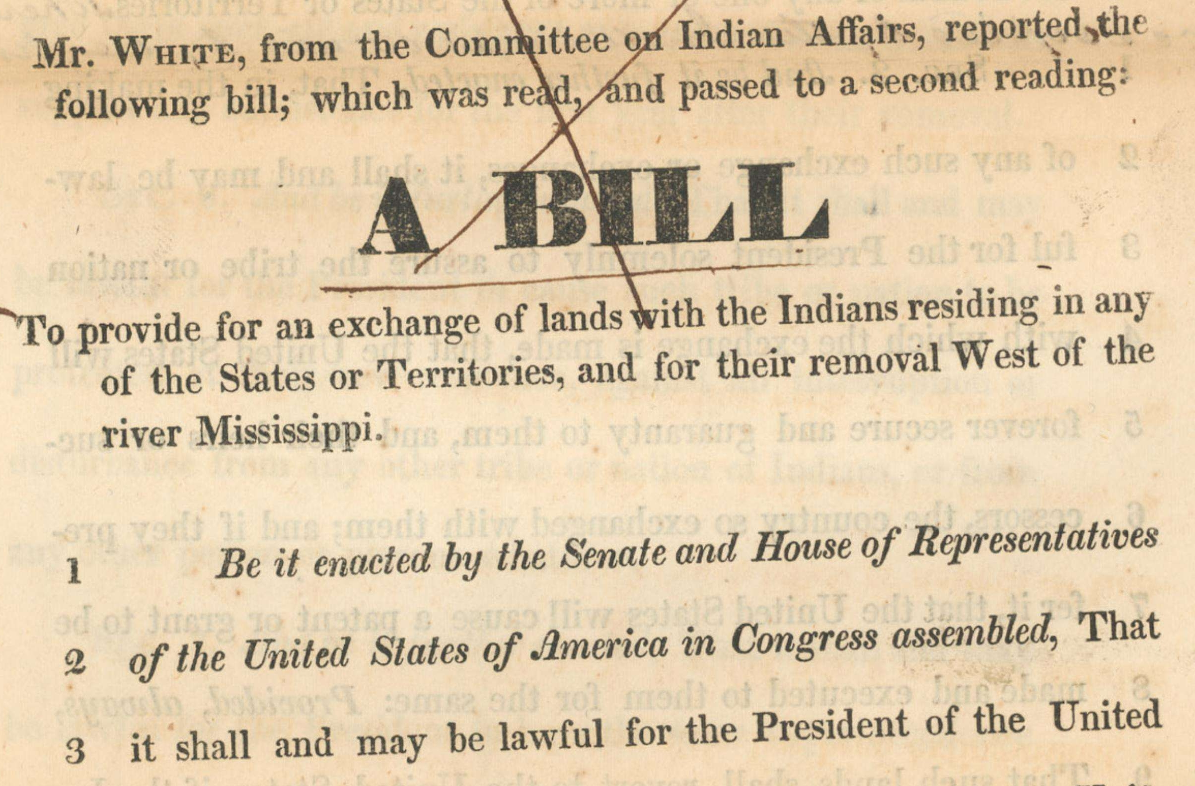 Indian Removal Act Church, State, ...