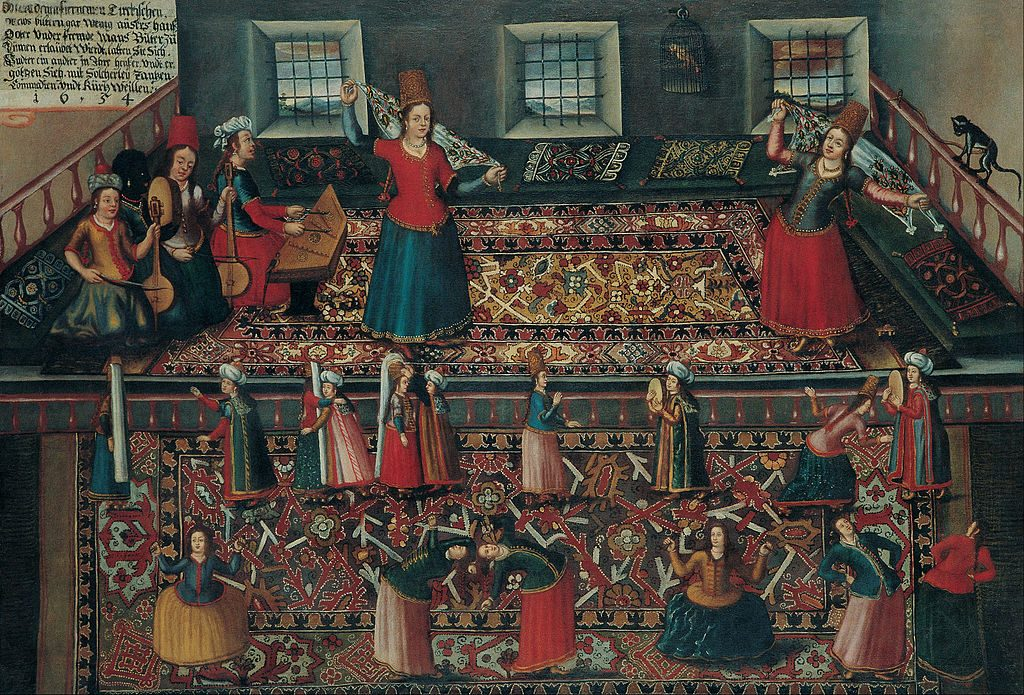 A Scene from the Turkish Harem / Pera Museum, Wikimedia Commons