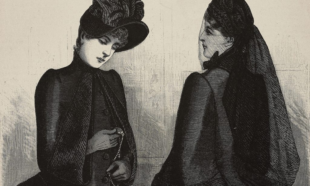 Wearing Black at Funerals Victorian Mourning Culture